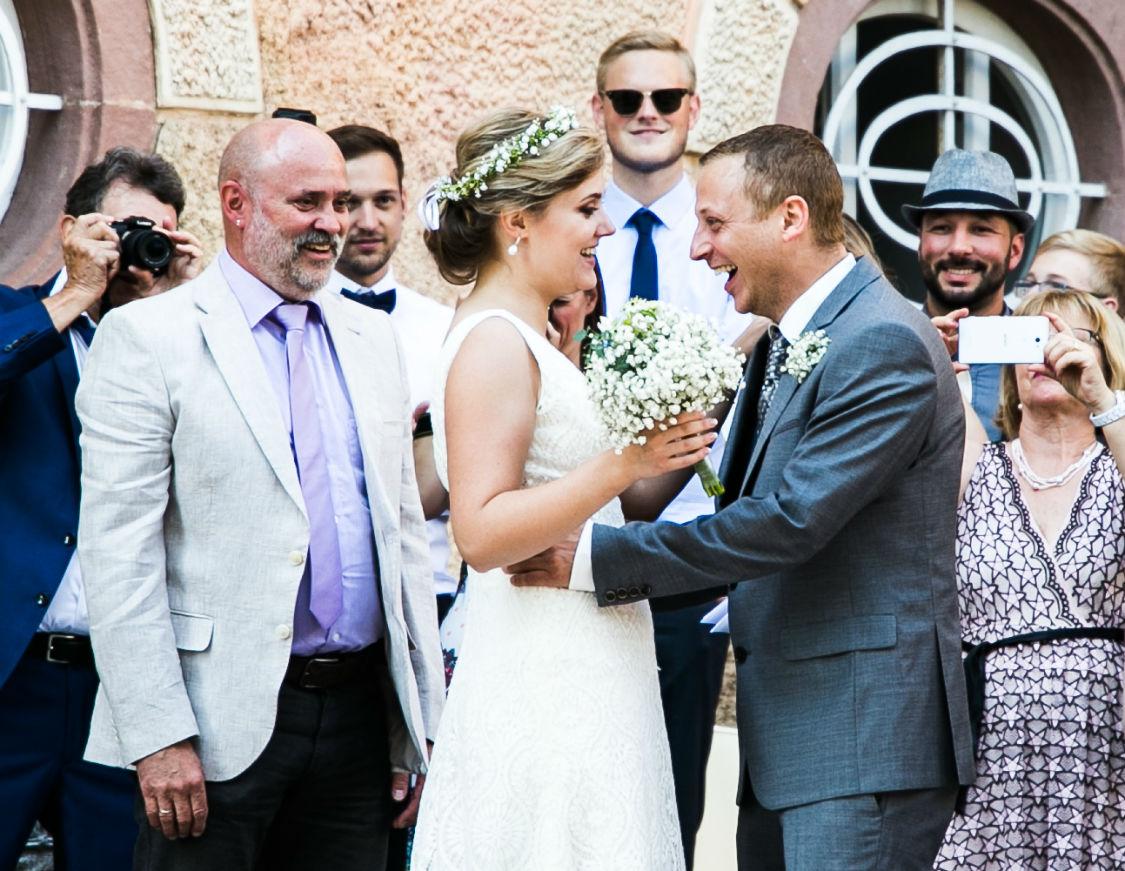 Hochzeitsfotograf Landau Brautpaar First Look