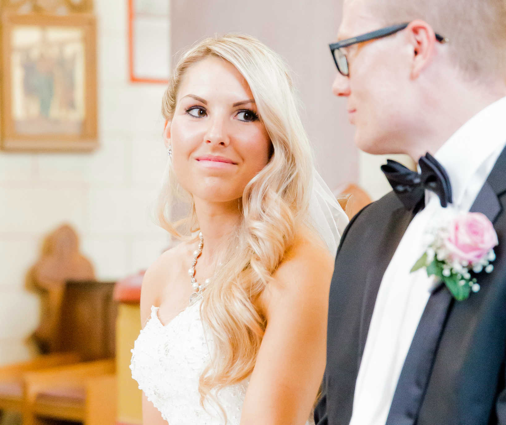 Heiraten in Meckenheim Brautpaar Kirche