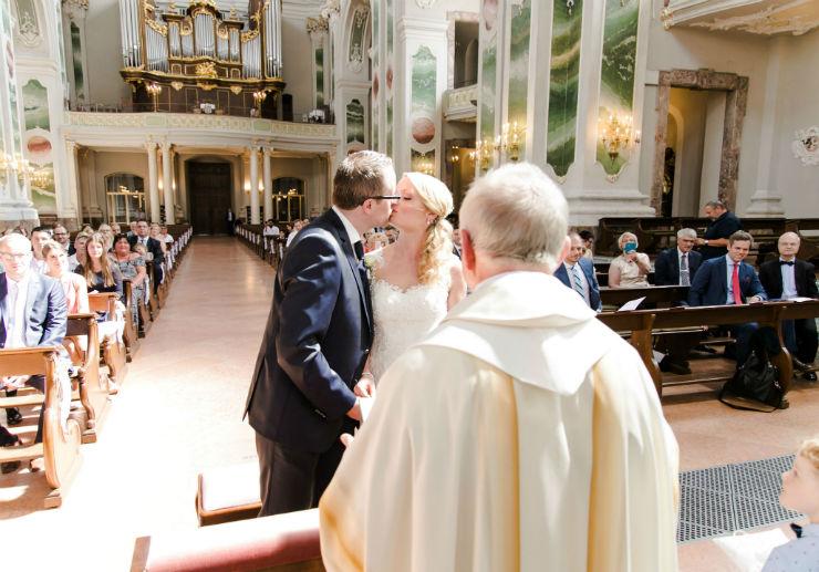 Hochzeitsfotograf Mannheim Trauung Jesuitenkirche