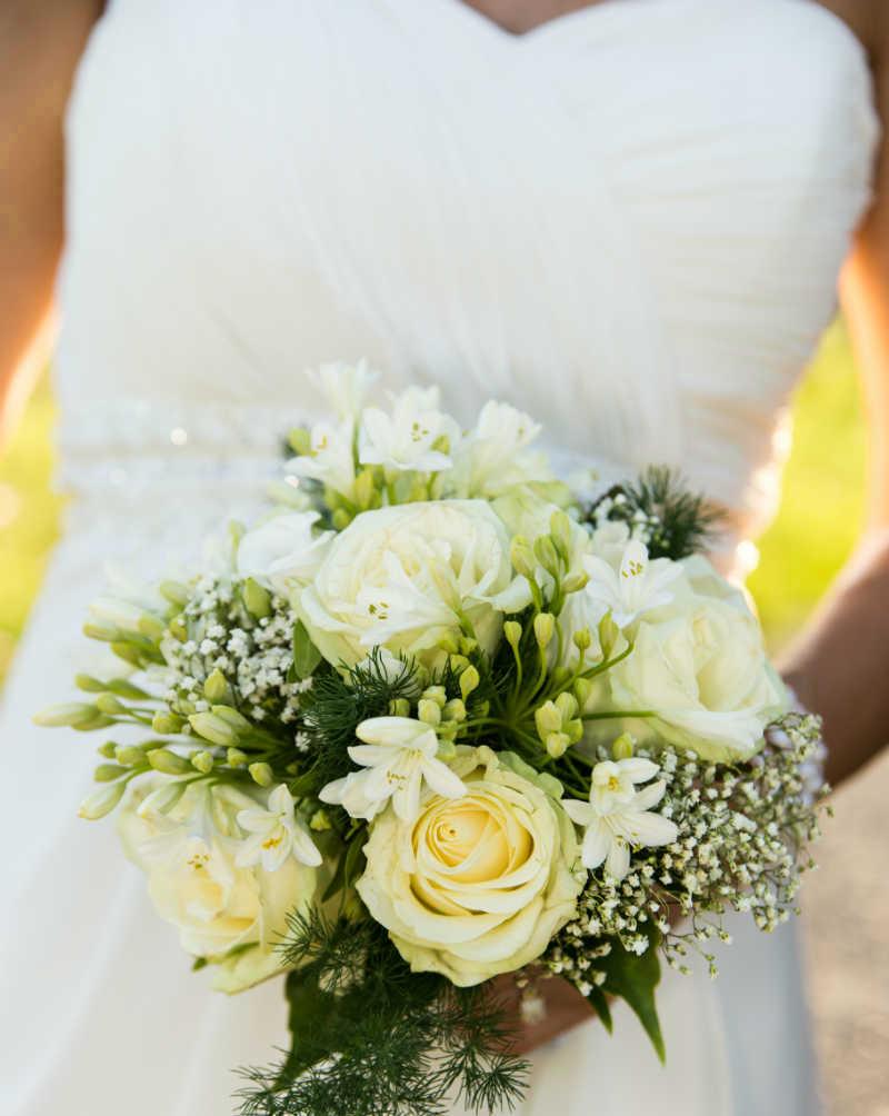 Hochzeitsfotograf Ungstein Brautstrauss Pfalz