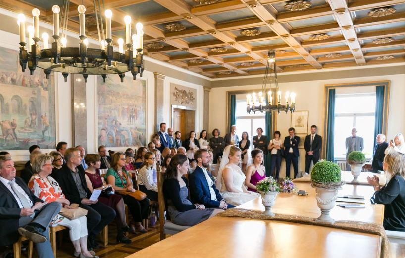 Heiraten in Landau Standesamt Trausaal Rathaus