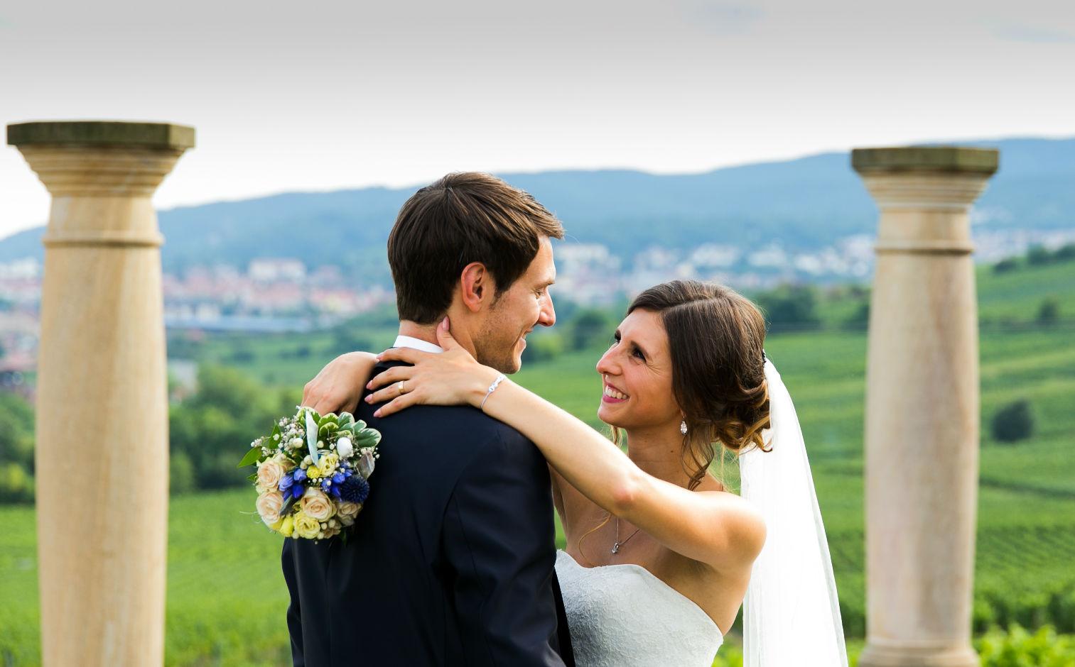 Brautpaar Villa Rustica Weilberg Pfalz