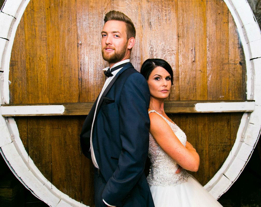 Brautpaar im Weinkeller Pfalz