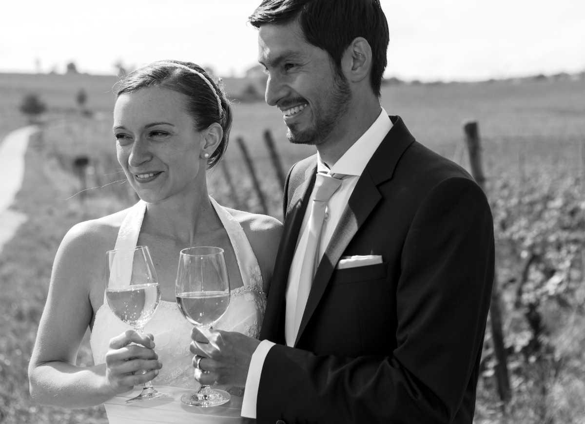 Hochzeitsfotograf Ludwigshafen Brautpaar Weinberg Pfalz