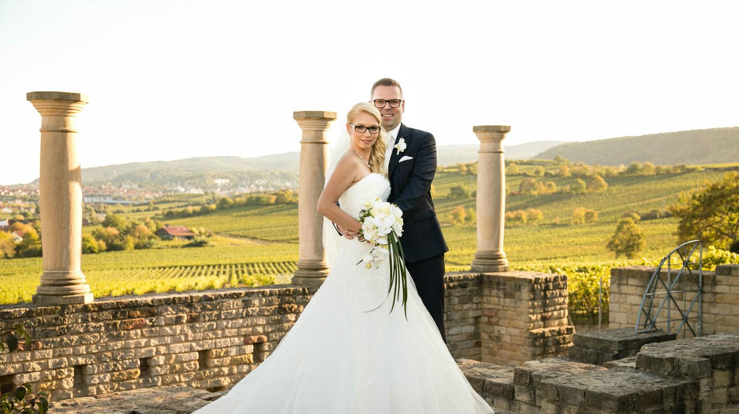 Brautpaar Villa Rustica Ungstein Pfalz