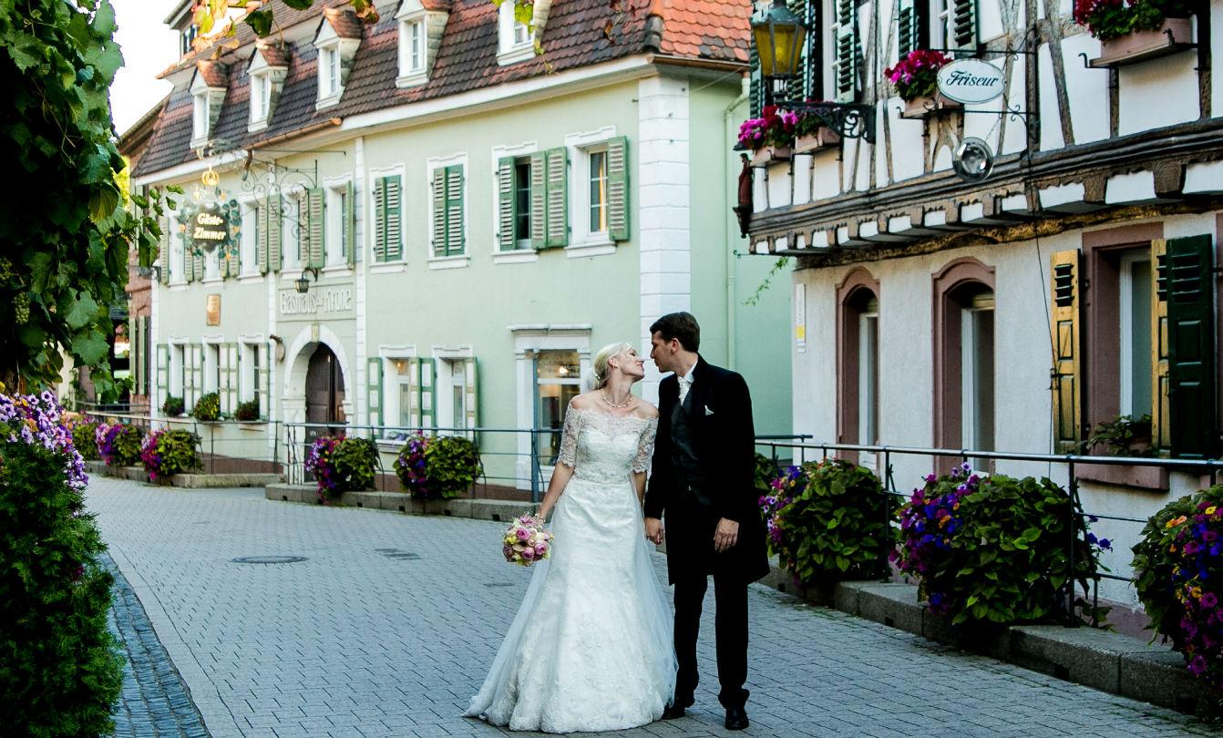 Heiraten Pfalz Brautpaar Sankt Martin