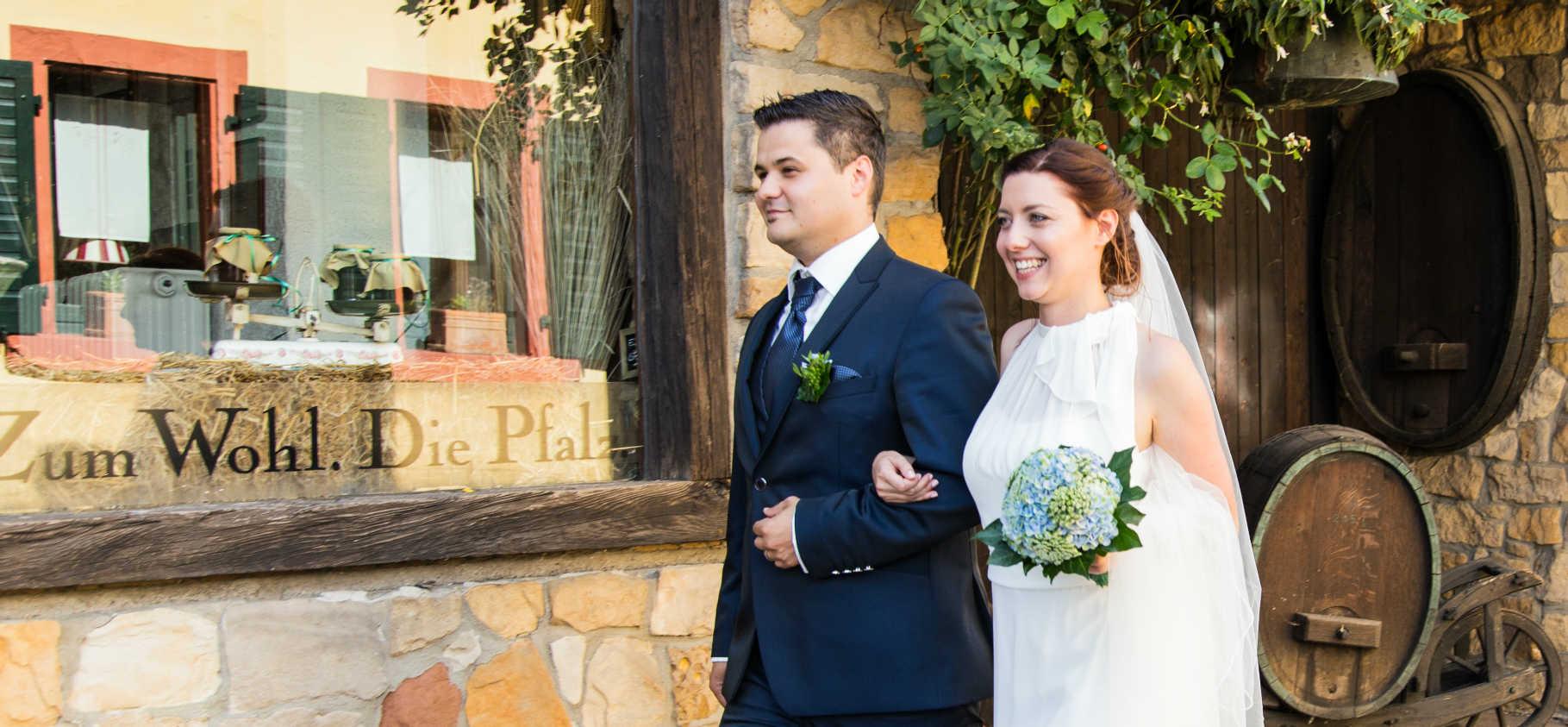 Heiraten in Ruppertsberg Brautpaar Pfalz
