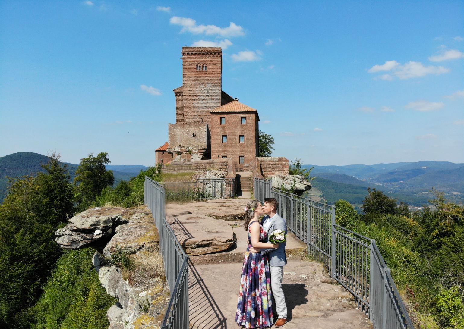 Brautpaar Burg Trifels Annweiler Pfalz