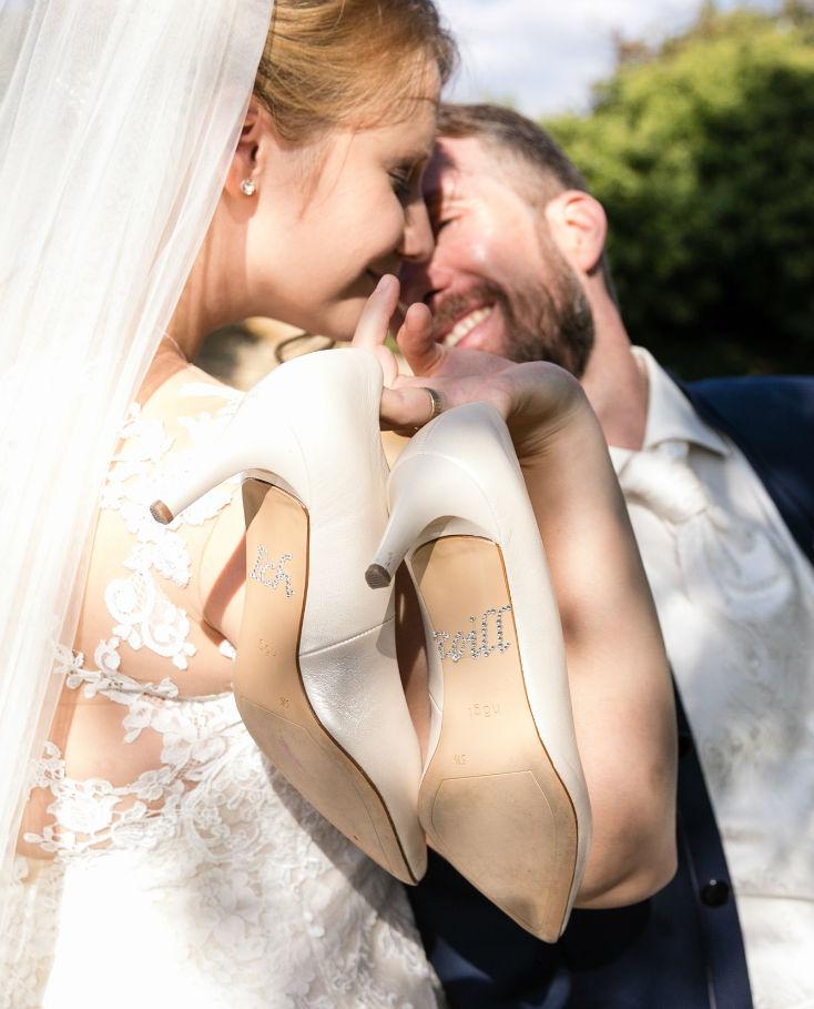 Brautschuhe Brautpaar Pfalz